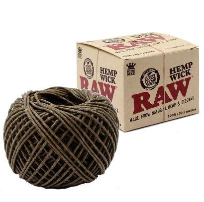 raw hempwick 100 foot roll image