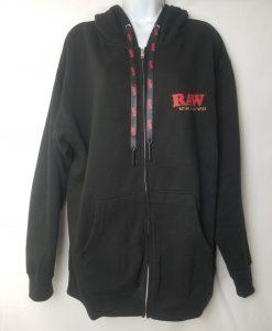 Raw Zip Up Hoodie