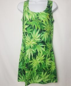 green leaf dress