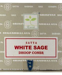 Satya white sage incense cones box
