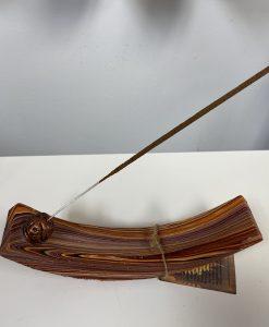 Sand Painted Wood Incense Holder Stick
