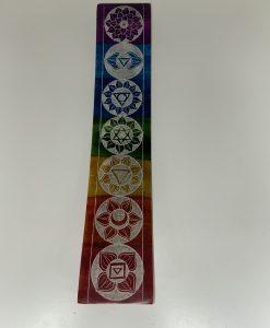 7 Chakras Soapstone Incense Holder