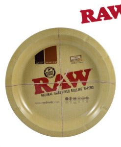 Raw Round Rolling Tray