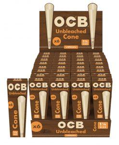 OCB Unbleached 1 1/4 Cones