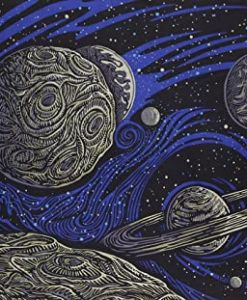 Galactic Glow in the Dark Tapestry by SUnshine Joy