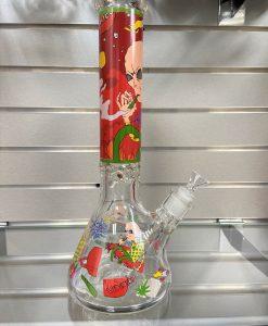 Side Trippy Alien Glass Bong