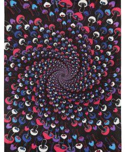 Shroom Spiral Glow in the Dark Tapestry