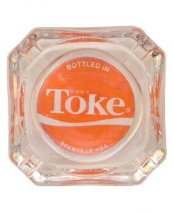 Enjoy a Toke Glass Ashtray