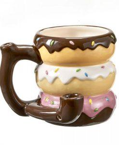 Donut Ceramic Mug Pipe