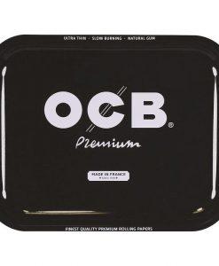 OCB Black Metal Rolling Tray Large